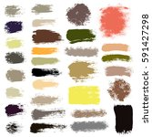 grunge paint vector. painted... | Shutterstock .eps vector #591427298