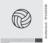 web line icon. volleyball | Shutterstock .eps vector #591432038