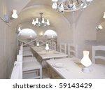 gray 3d interior salon and... | Shutterstock . vector #59143429