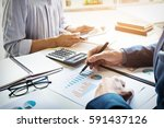 business man financial... | Shutterstock . vector #591437126