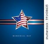 american memorial day graphic... | Shutterstock .eps vector #591438635