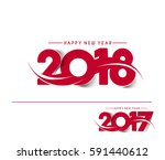 happy new year 2018   2017 text ... | Shutterstock .eps vector #591440612