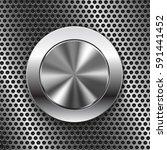 round switch knob button on... | Shutterstock .eps vector #591441452
