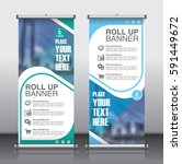 roll up brochure flyer banner... | Shutterstock .eps vector #591449672