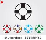 lifebuoy  icon  vector... | Shutterstock .eps vector #591455462