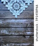 Small photo of lace on wooden background. lace. lace background with empty space for your text and logo