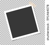 photo frame with adhesive ... | Shutterstock .eps vector #591464078