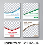 set of web square standard size ... | Shutterstock .eps vector #591466046