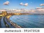 view of alexandria harbor  egypt | Shutterstock . vector #591473528