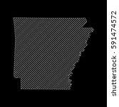 striped  arkansas map isolated... | Shutterstock .eps vector #591474572