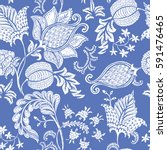 seamless pattern with fantasy... | Shutterstock .eps vector #591476465