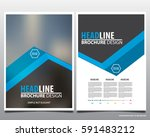 blue abstract annual report... | Shutterstock .eps vector #591483212
