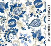 seamless pattern with fantasy...   Shutterstock .eps vector #591485285