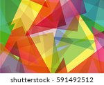 pattern of geometric shapes... | Shutterstock .eps vector #591492512