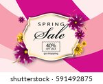 spring sale background vector... | Shutterstock .eps vector #591492875