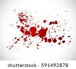 blood splatter | Shutterstock .eps vector #591492878