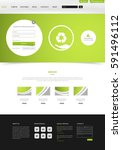 eco green website layout....