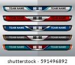 scoreboard sport  broadcast for ... | Shutterstock .eps vector #591496892