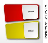 vector abstract banner. the two ... | Shutterstock .eps vector #591497825
