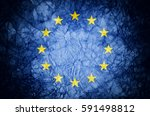 grunge flag of european union. | Shutterstock . vector #591498812