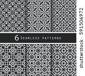 a pack of vintage pattern... | Shutterstock .eps vector #591506972