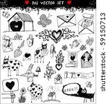 doodle set   love | Shutterstock .eps vector #59150713