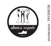 vector image of logo of shoe... | Shutterstock .eps vector #591508238