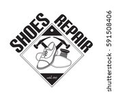 vector image of logo of shoe...