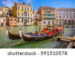 panoramic view of famous grand... | Shutterstock . vector #591510578