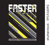 athletic sport run typography ... | Shutterstock .eps vector #591516092