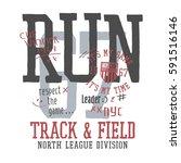 athletic sport running... | Shutterstock .eps vector #591516146