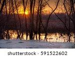 A Golden Sunset At A Indiana...