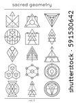 sacred symbols. vector cosmic... | Shutterstock .eps vector #591530642