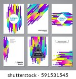 set of abstract geometric... | Shutterstock .eps vector #591531545