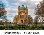 basilica of the sacred heart in ... | Shutterstock . vector #591541826