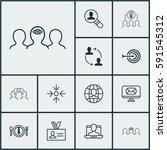set of 12 business management... | Shutterstock .eps vector #591545312