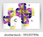 vector modern geometric annual...   Shutterstock .eps vector #591557996