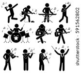 music orchestra. a person... | Shutterstock .eps vector #591562802