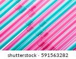 multicolored straws background...   Shutterstock . vector #591563282