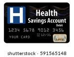 health savings account debit... | Shutterstock . vector #591565148