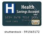 health savings account debit... | Shutterstock . vector #591565172