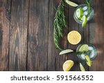 alcoholic drink gin tonic... | Shutterstock . vector #591566552