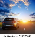 car and light on the road. | Shutterstock . vector #591570842