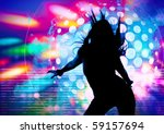 dancing silhouette of girl in a ...