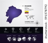 ecuador map vector illustration  | Shutterstock .eps vector #591578792