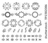 set vector round ornaments....   Shutterstock .eps vector #591582086