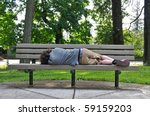 A Homeless Person Takes A Nap...