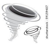 cartoon tornado isolated on the ... | Shutterstock .eps vector #59159407