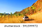 outback australia   road trip... | Shutterstock . vector #591599972