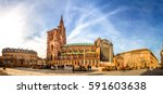 strasbourg  cathedral  | Shutterstock . vector #591603638